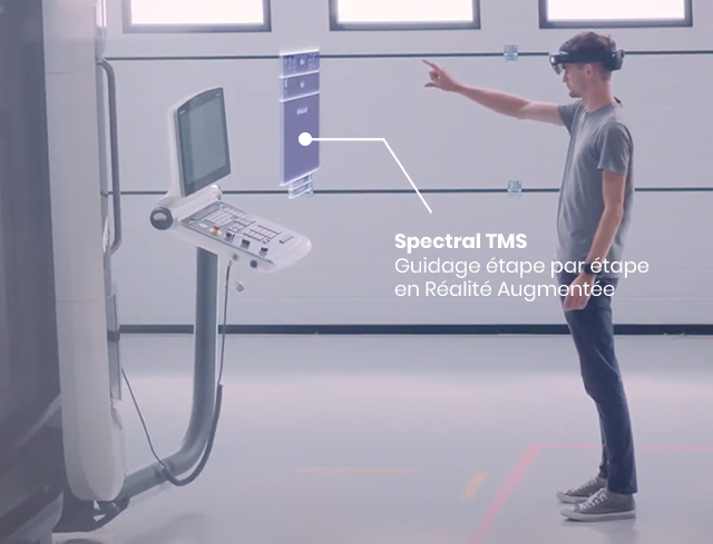 Augmented reality by Spectral TMS
